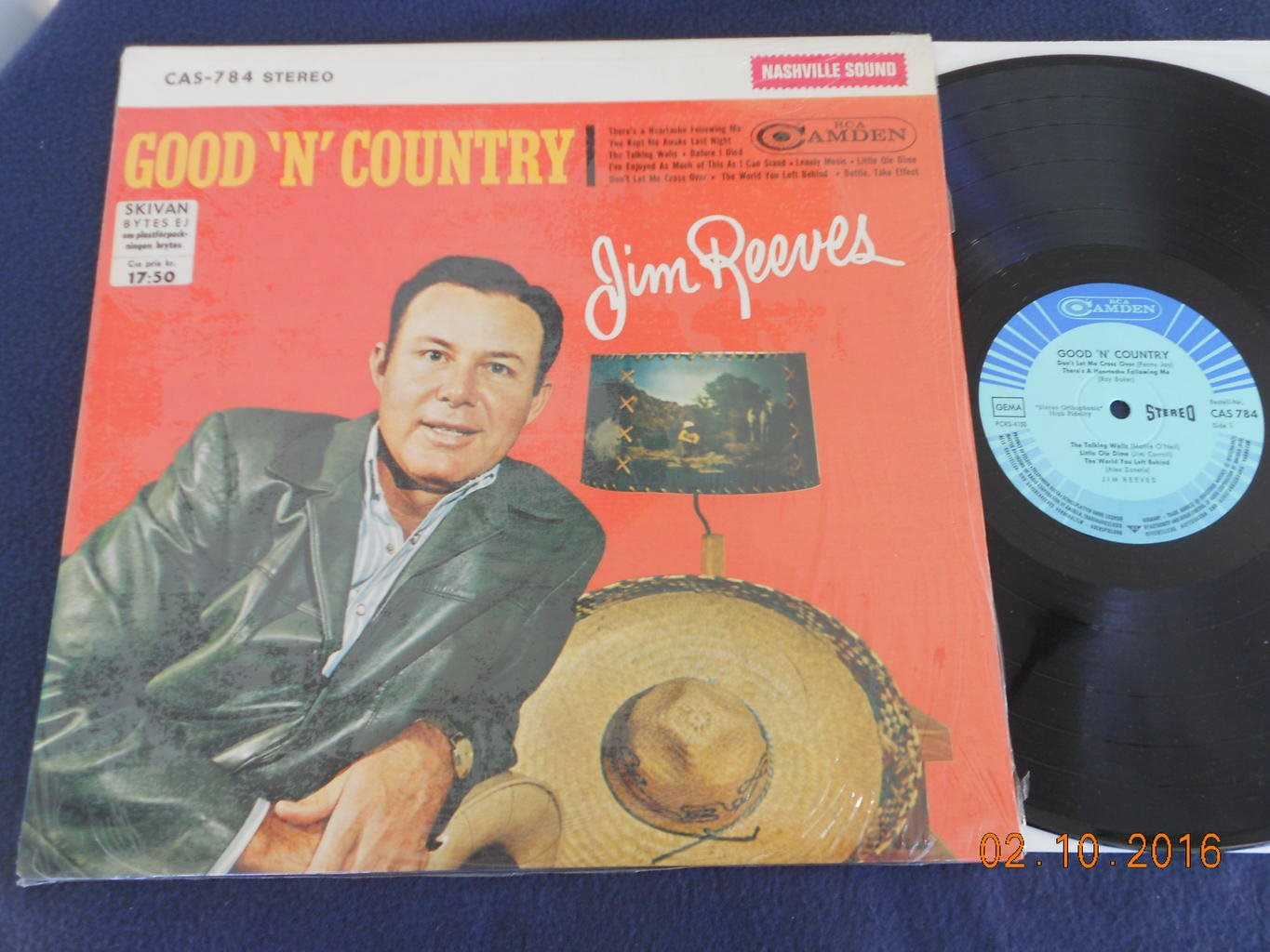 JIM REEVES - Good n Country, LP RCA Camden CAS-784, Tyskland 1964