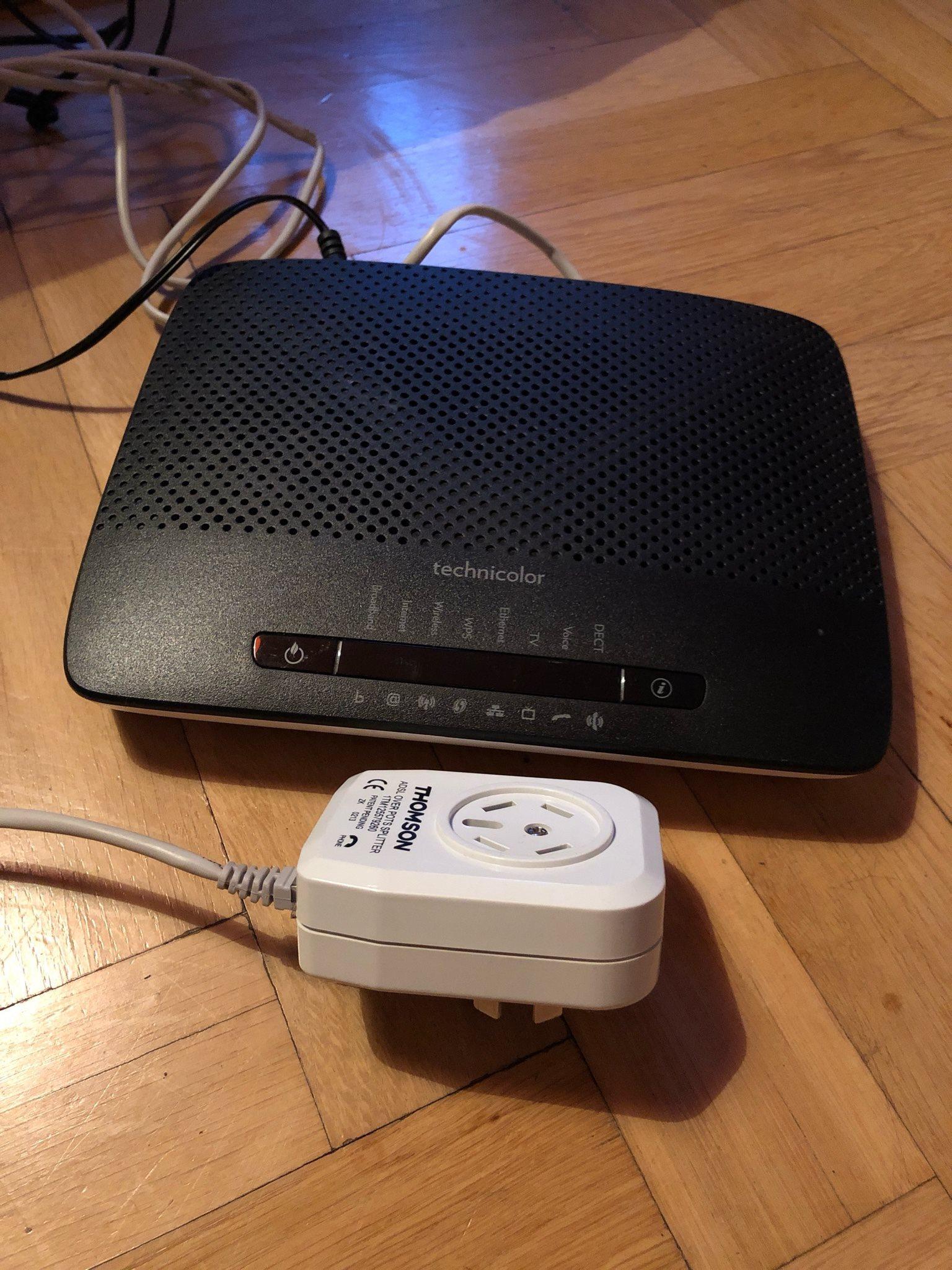 telia adsl modem technicolor
