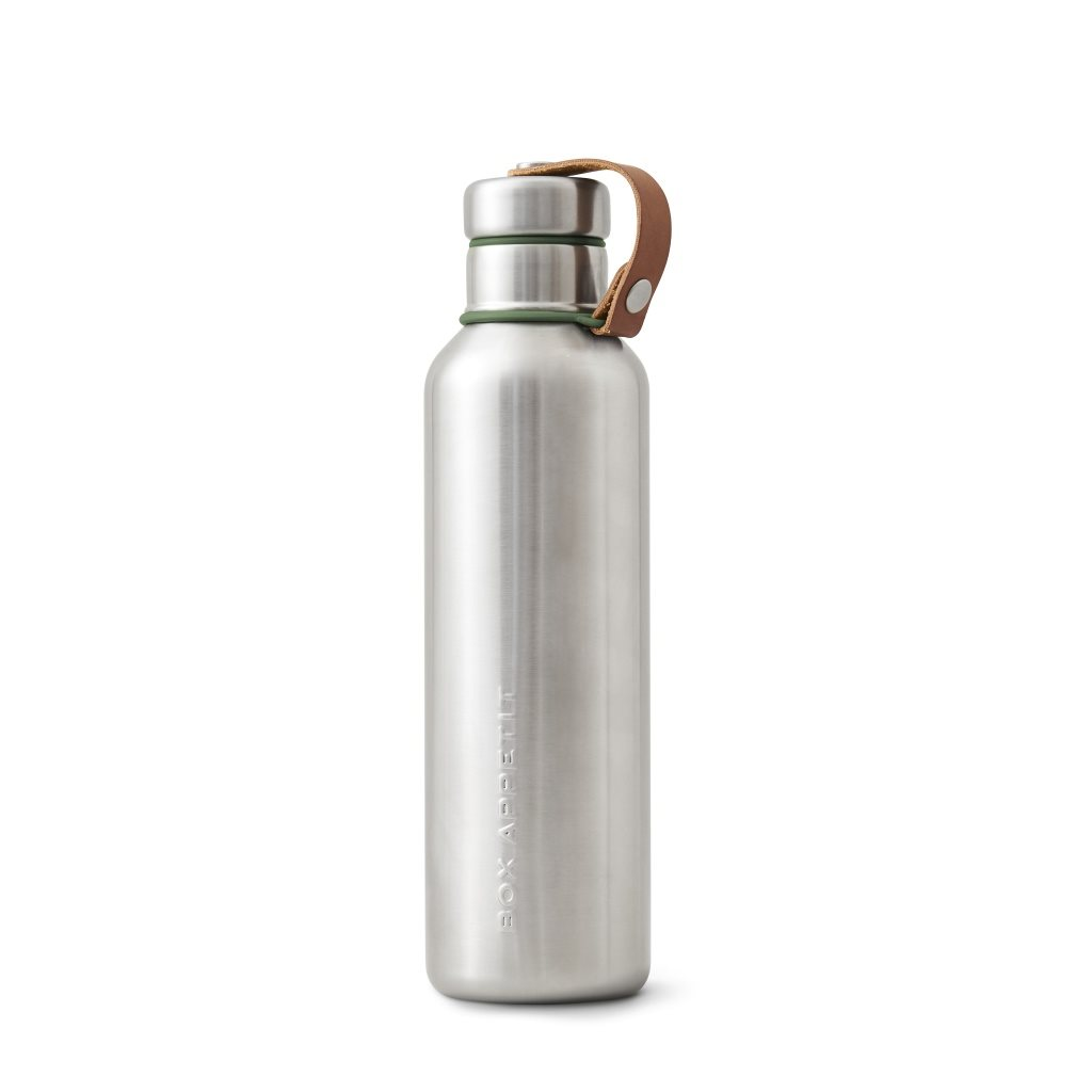 Insulated water bottle large olive, Black + blum