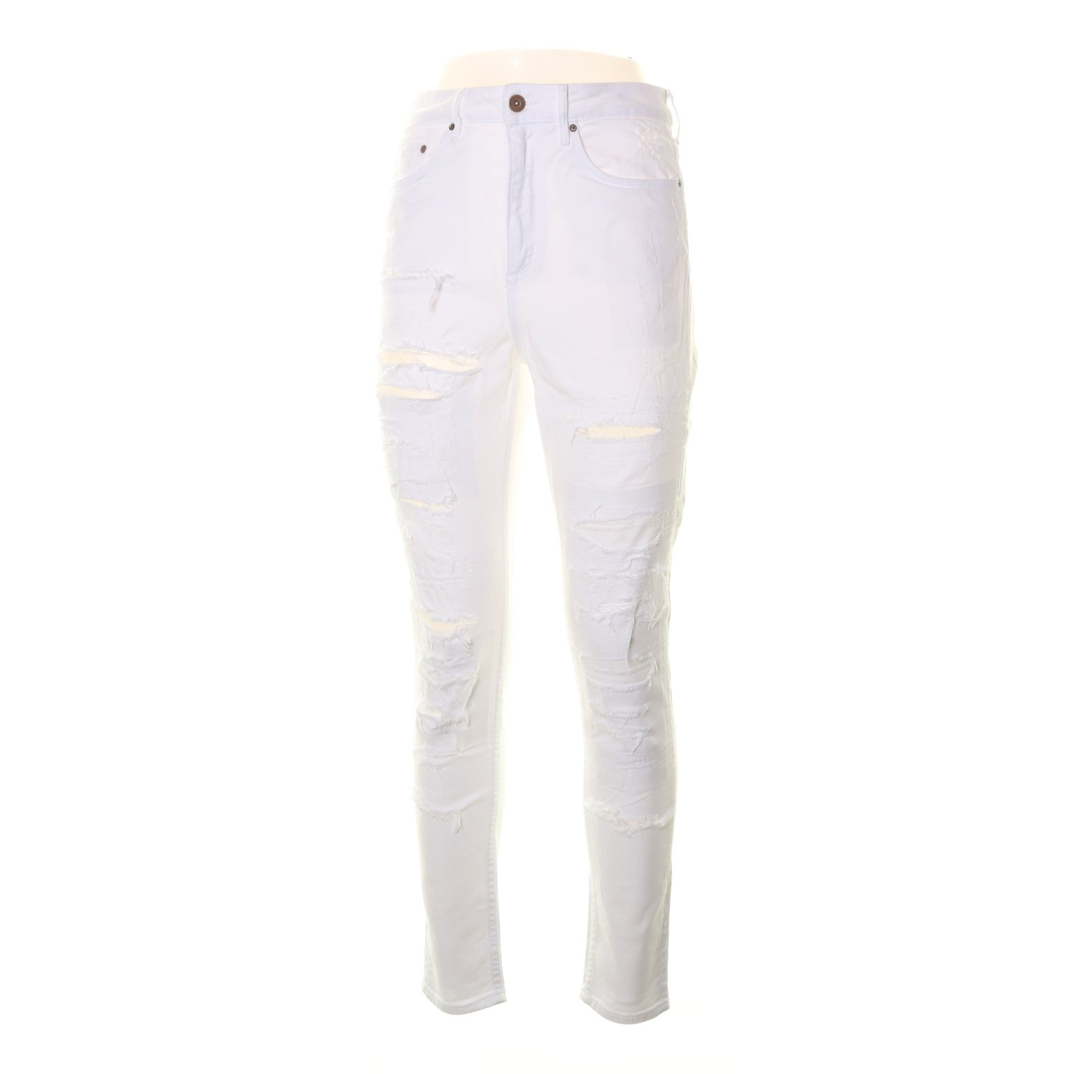 &Denim by H&M, Jeans, Strl: 28, Skinny High Waist, Vit