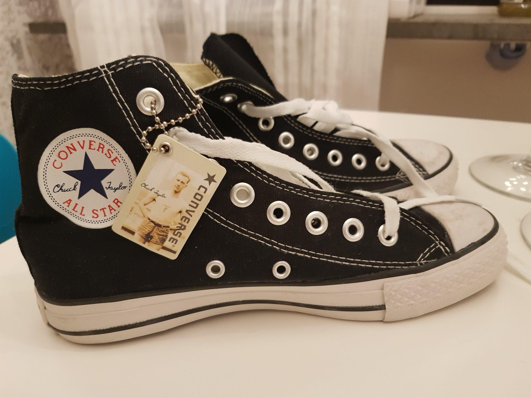 half off 8758d 9d5d8 CONVERSE NYA skor sneakers strl. 38 24,5 cm svarta klassiska