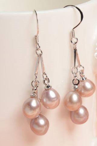 örhängen äkta pärlor