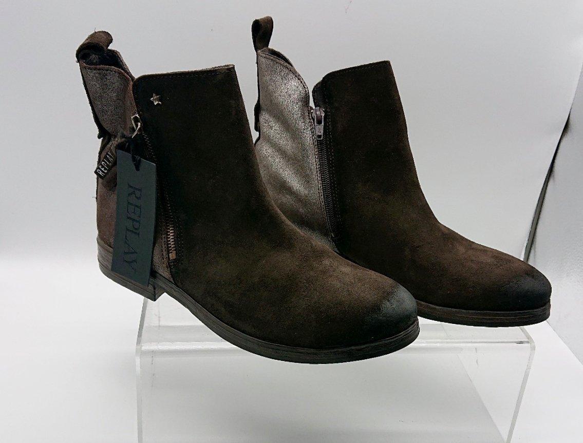 bruna mocka boots dam