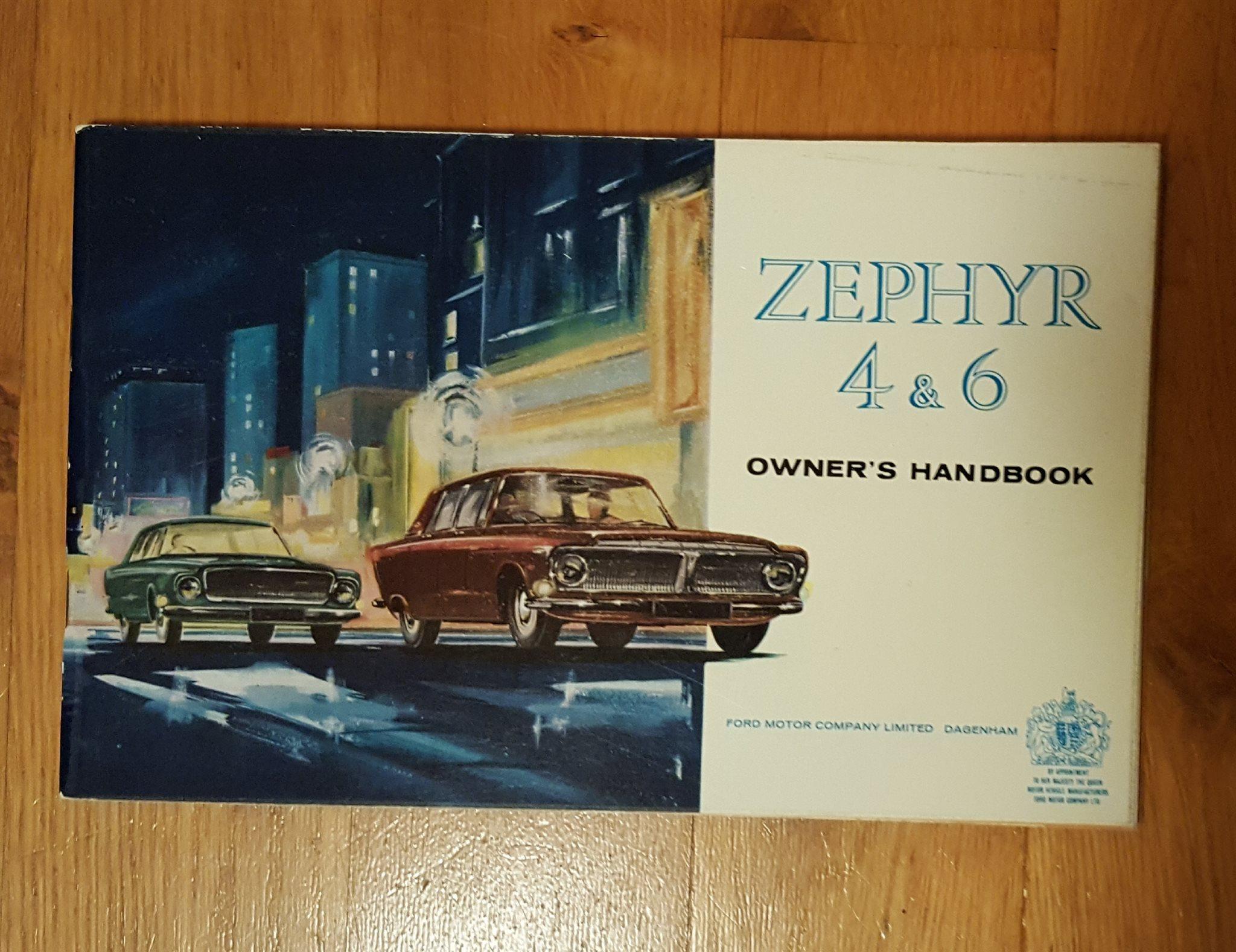INSTRUKTIONSBOK FORD FORD FORD ZEPHYR 4 & 6 37b4f6