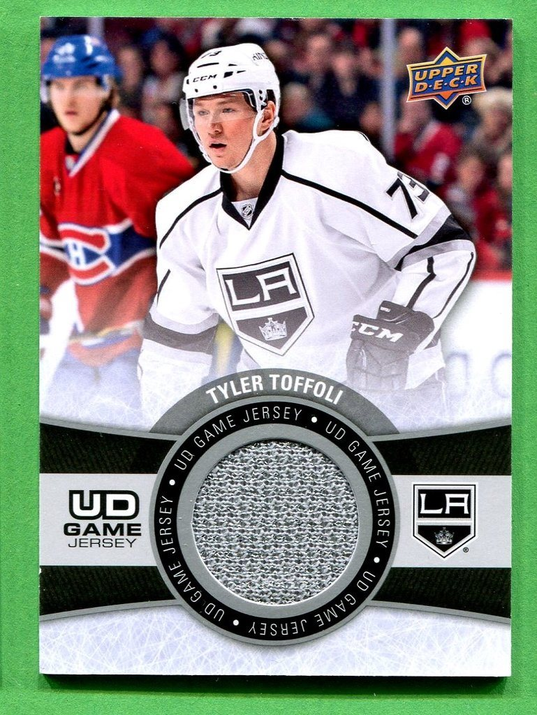 2015-16 Upper Deck Series 1 Gamejersey #GJ-TT Tyler Toffoli LA Kings grå