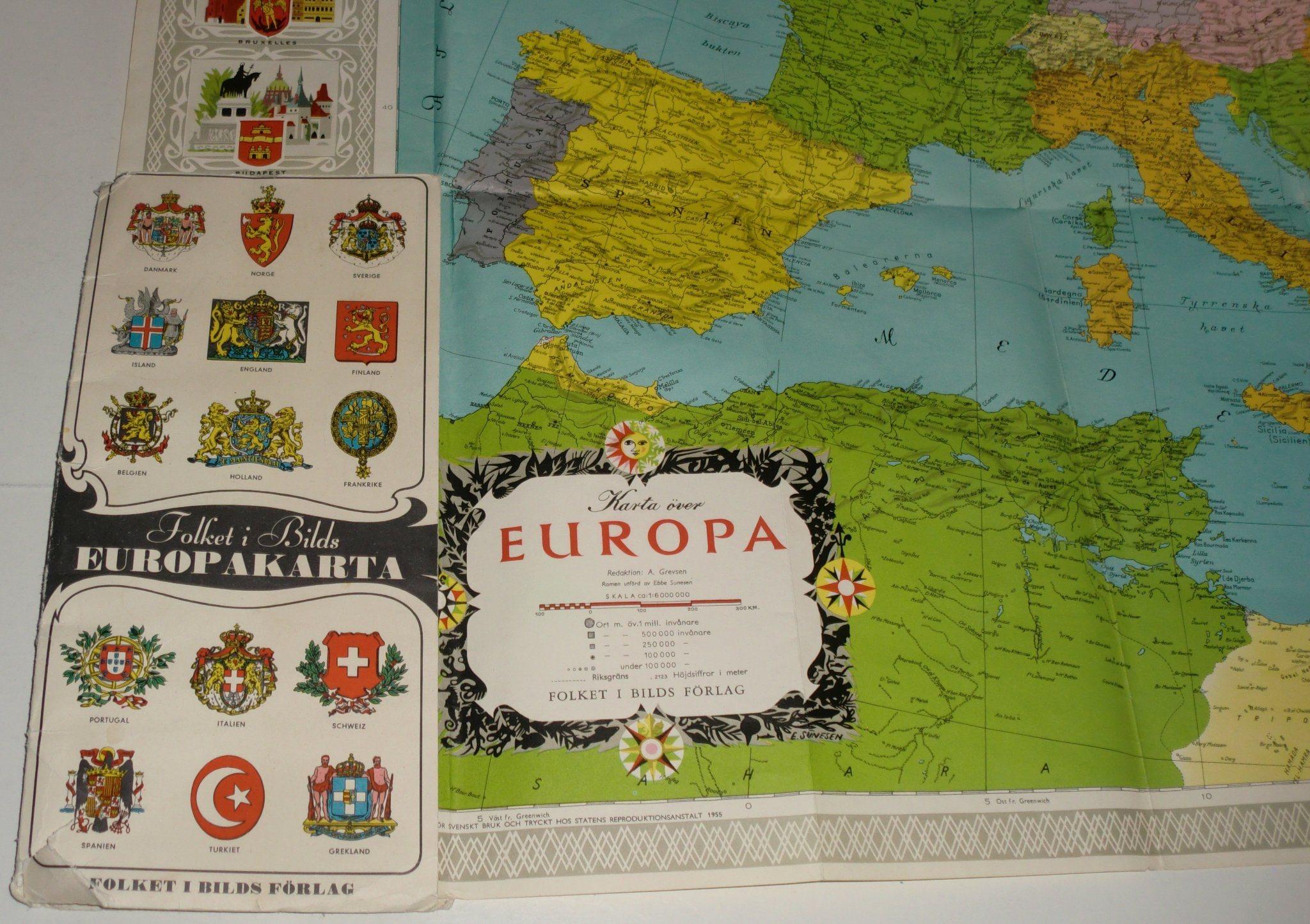 Karta Europa Pa Svenska.Karta Europa Folket I Bilds Forlag Fib State 344524930 ᐈ Kop