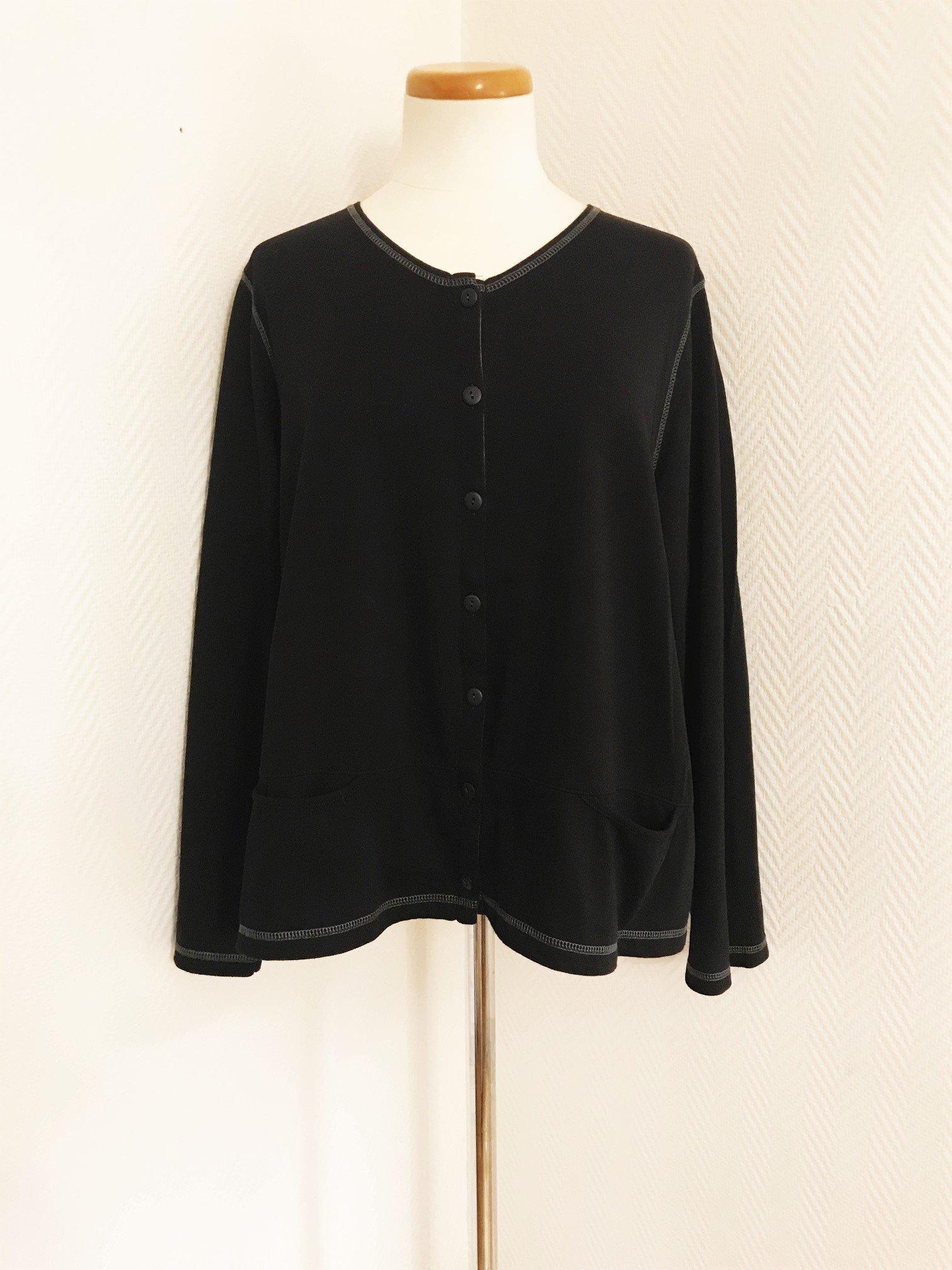 6498b50f39d8 Gudrun Sjödén vacker svart EKObomull kofta s.. (347520603) ᐈ Köp på ...