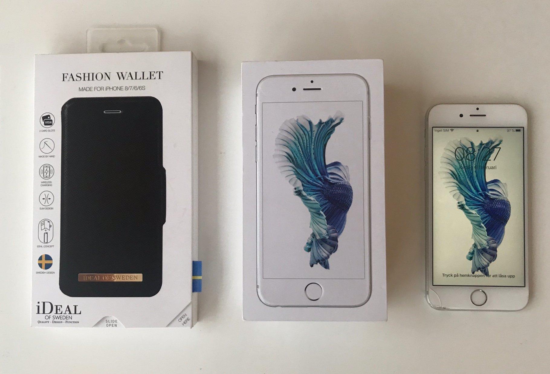 iPhone 6S Silver Vit 16GB Apple Mobiltelefon + Laddare