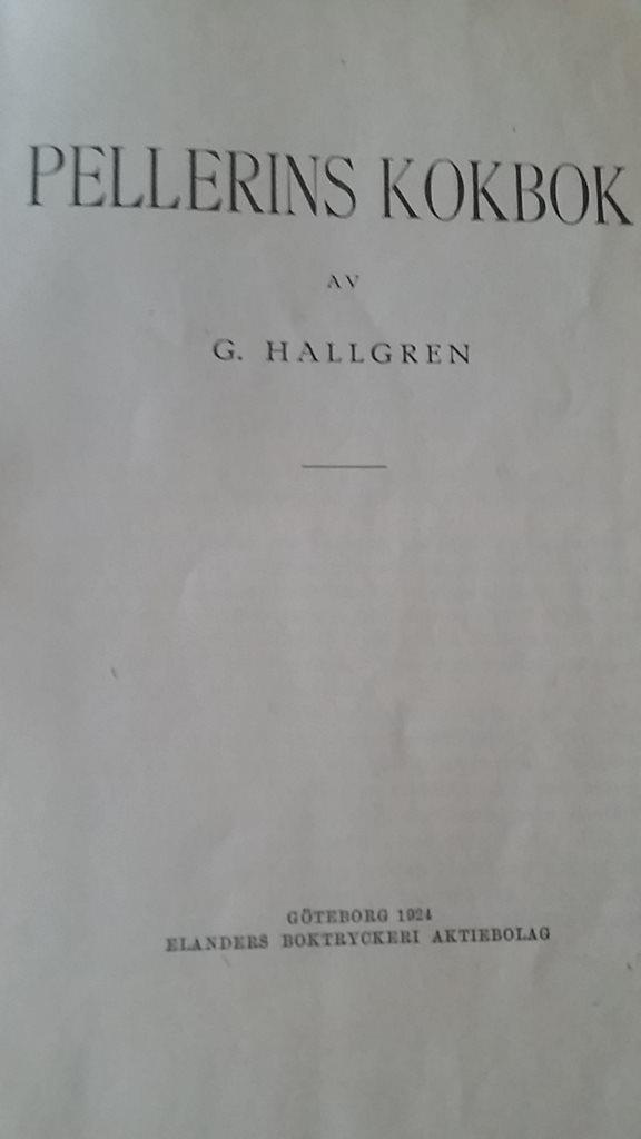 bok Recept  PELLERINS KOKBOK KOKBOK KOKBOK 1924 cfff08