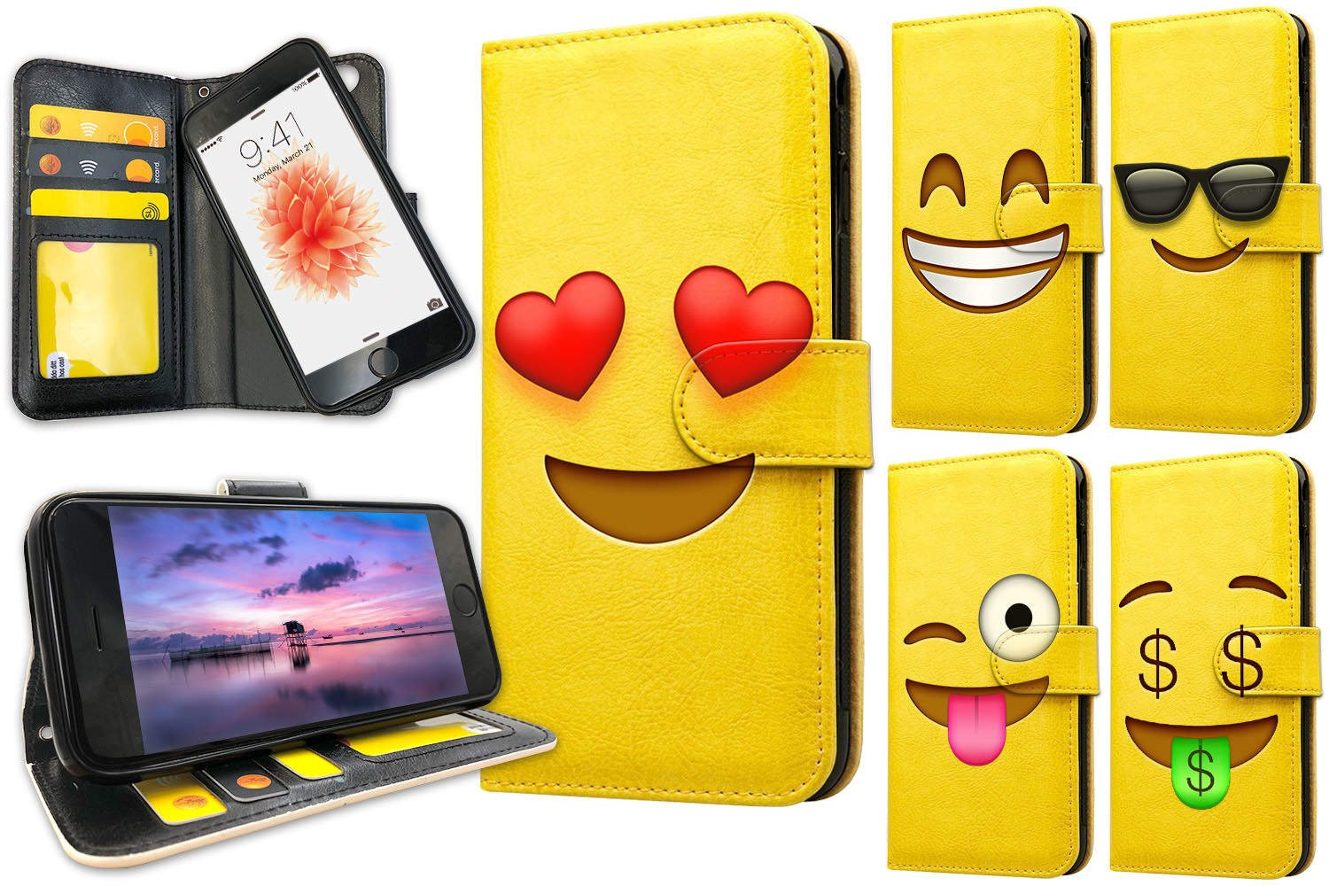 iPhone 6/6s Plus - Mobilfodral Emoji / Smiley - 15 Motiv