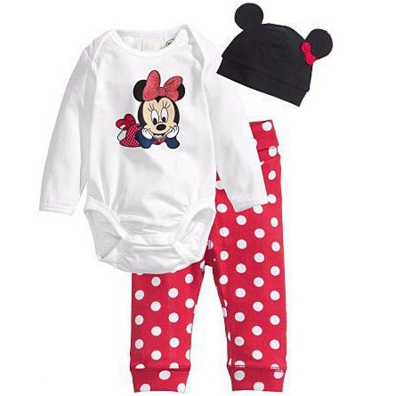 0-6 månader 3st Nyfödd Baby Boy Girl Kids Gullig Cartoon Romper Hat Pant  Body 8e3766820f878