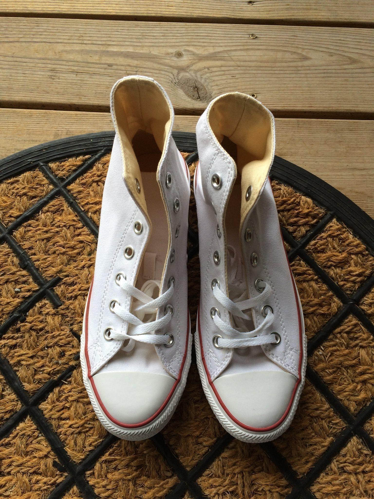 best website c60b8 fb489 Converse skor nya vita höga 39