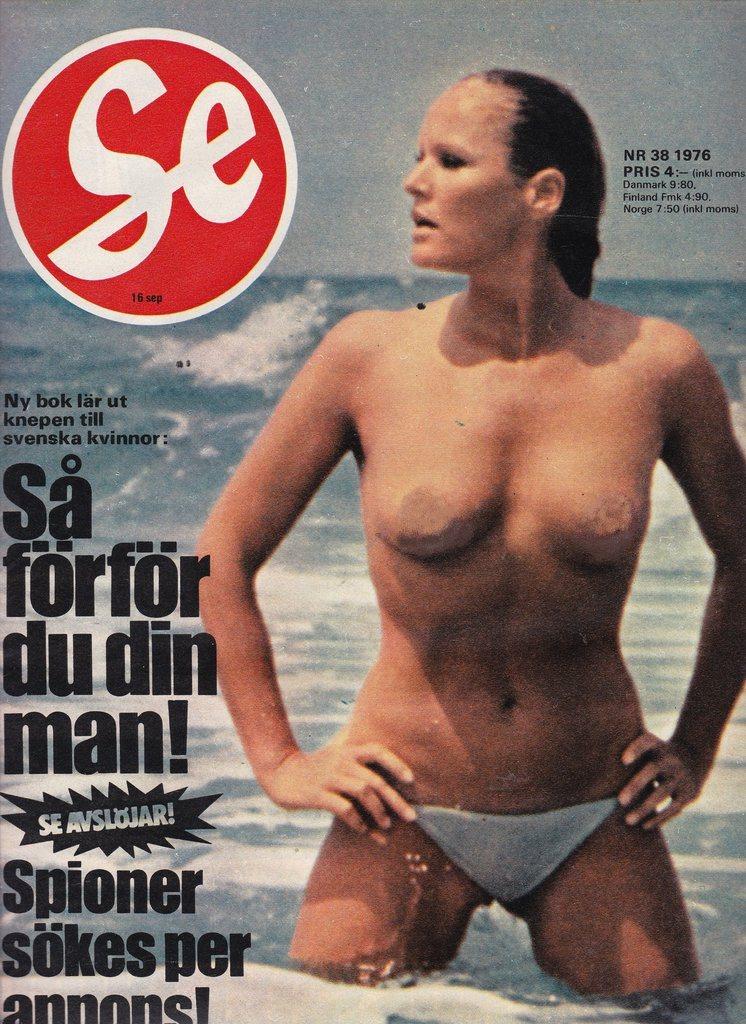 SE 1976-38 Olof Palme.Ursula Andress Utvik.Poppe.R Peterson