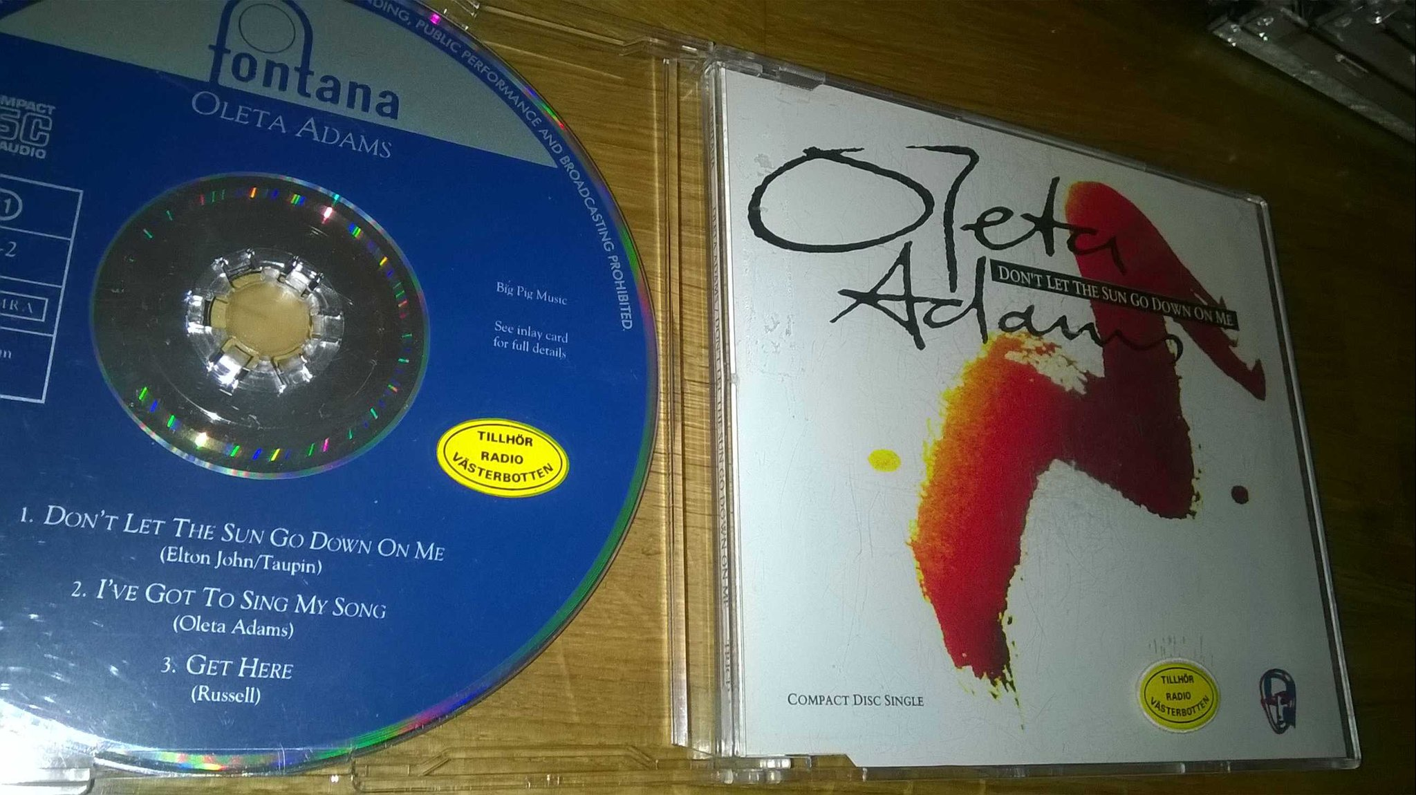 Oleta Adams - Don't let the sun go down on me, CD