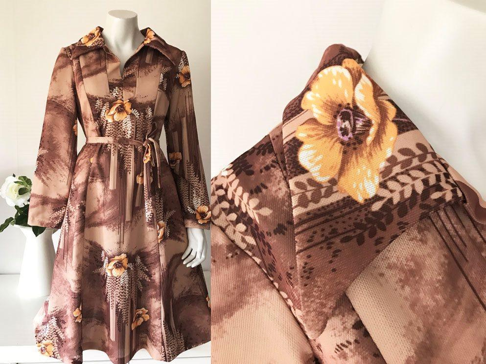 Vintage 70-tal fri frakt brun klänni.. (291144668) ᐈ Tuvstarr2nd på ... ae56fd81f463c
