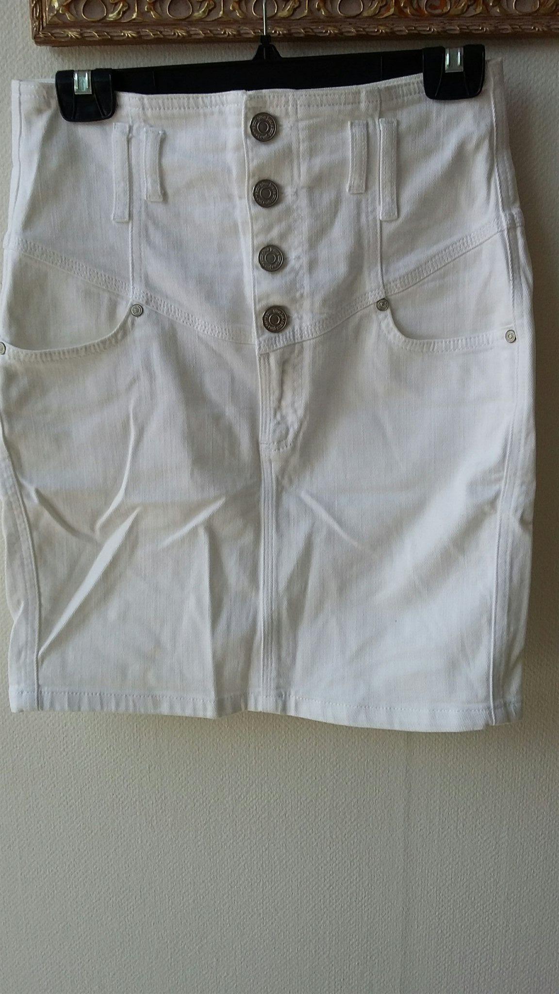 vit jeanskjol gina tricot