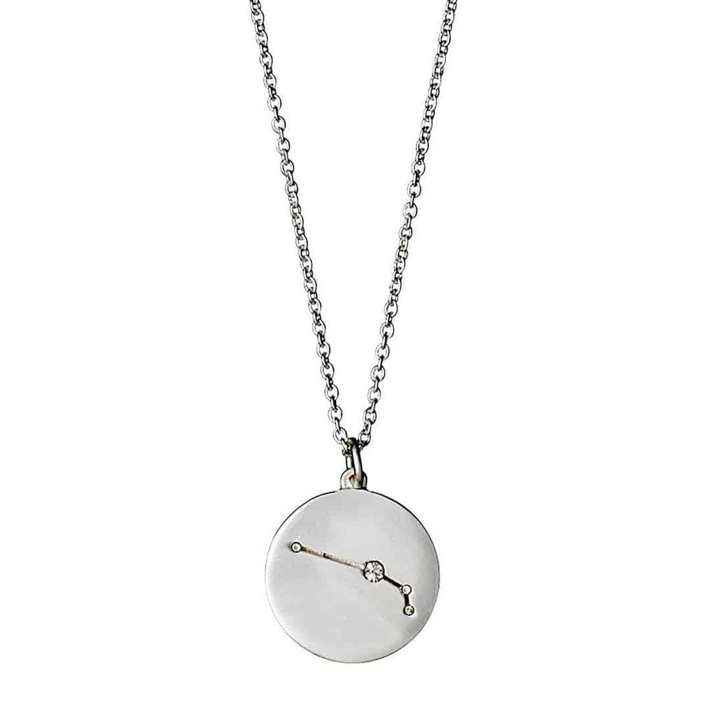 Stjärntecken halsband silver