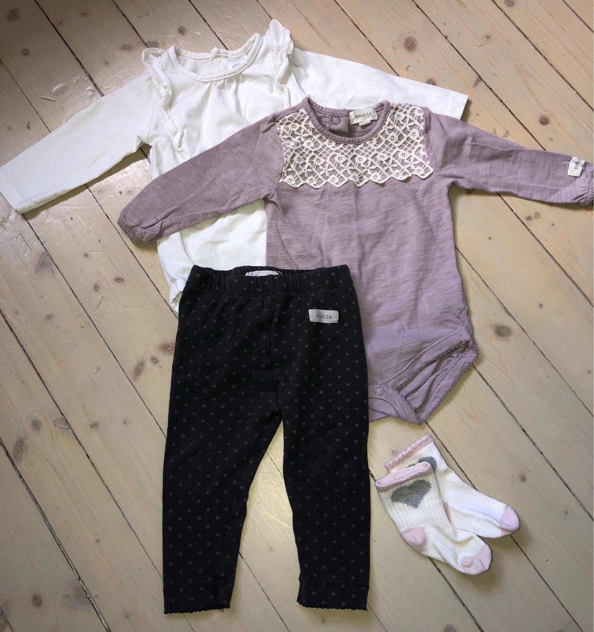 5fa242a41ed9 Klädpaket från Newbie och Lindex stl 68 (352625975) ᐈ Köp på Tradera