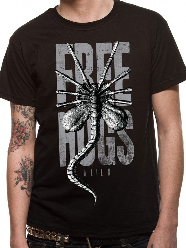 ALIEN - FREE HUGS (UNISEX) T-Shirt - Medium