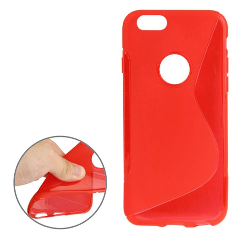 iPhone 6 6S Plus S-Line Skal TPU Röd (229944803) ᐈ jfwtrade1 på Tradera 4ab8ecdc852b9