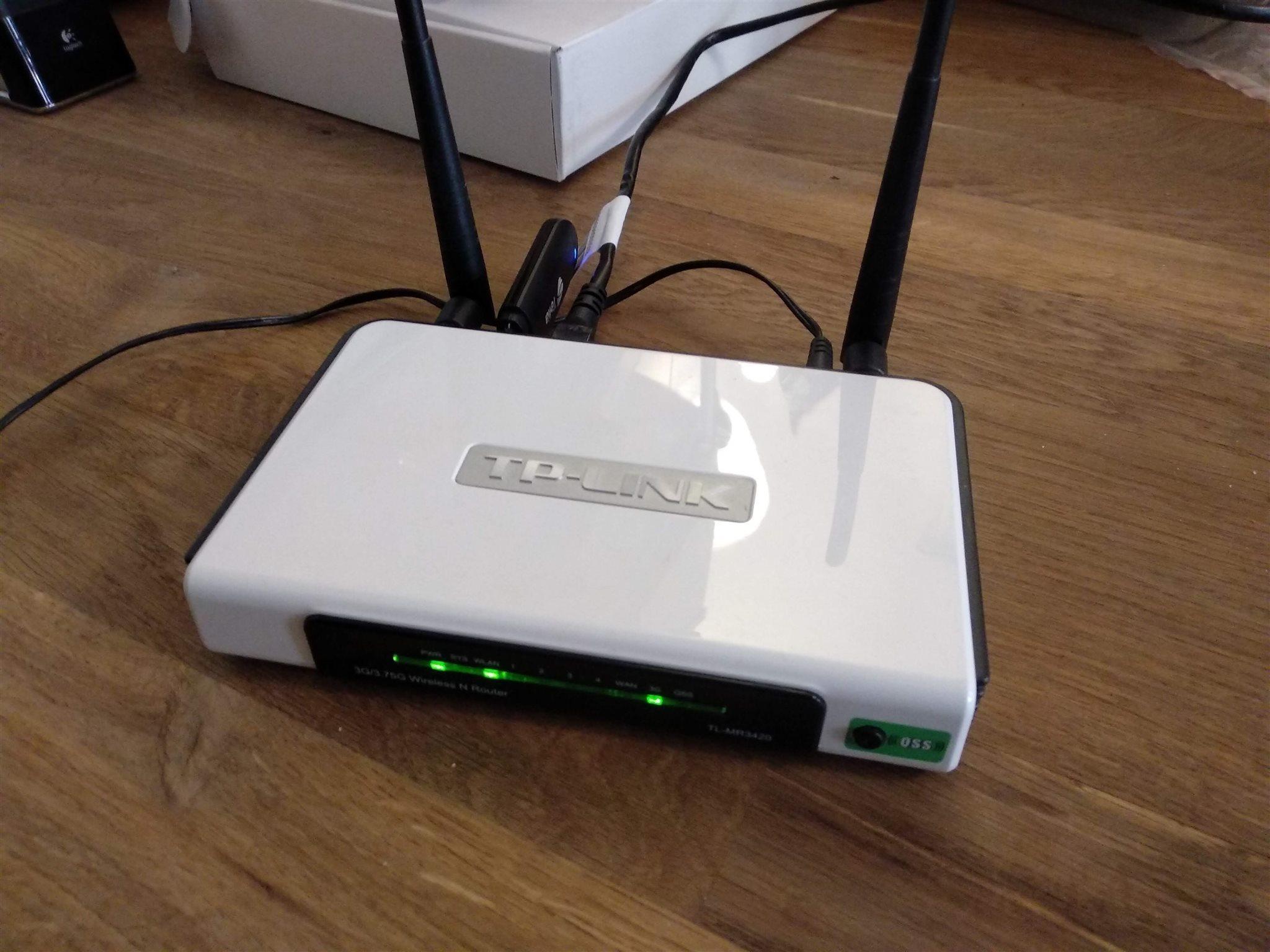 Tp Link Tl Mr3420 3g 4g Router Fr Mobilt Bredb 324379601 Kp Tplink Wireless N Bredband Inkl
