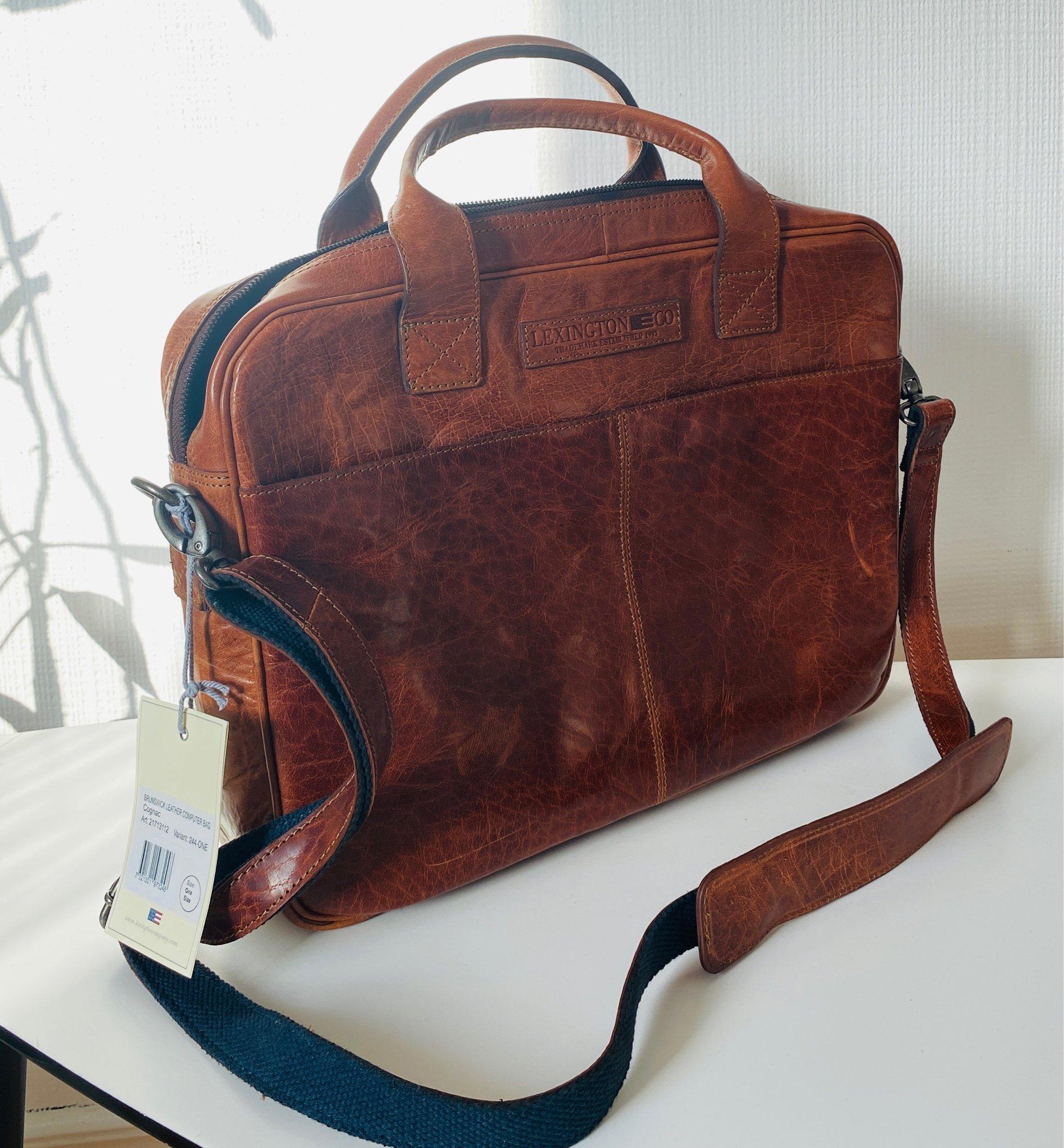 lexington väska skinn