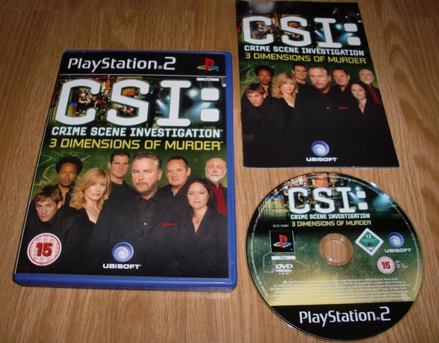 PS2: CSI Crime Scene Investigation 3 Dimensions of Murder ★