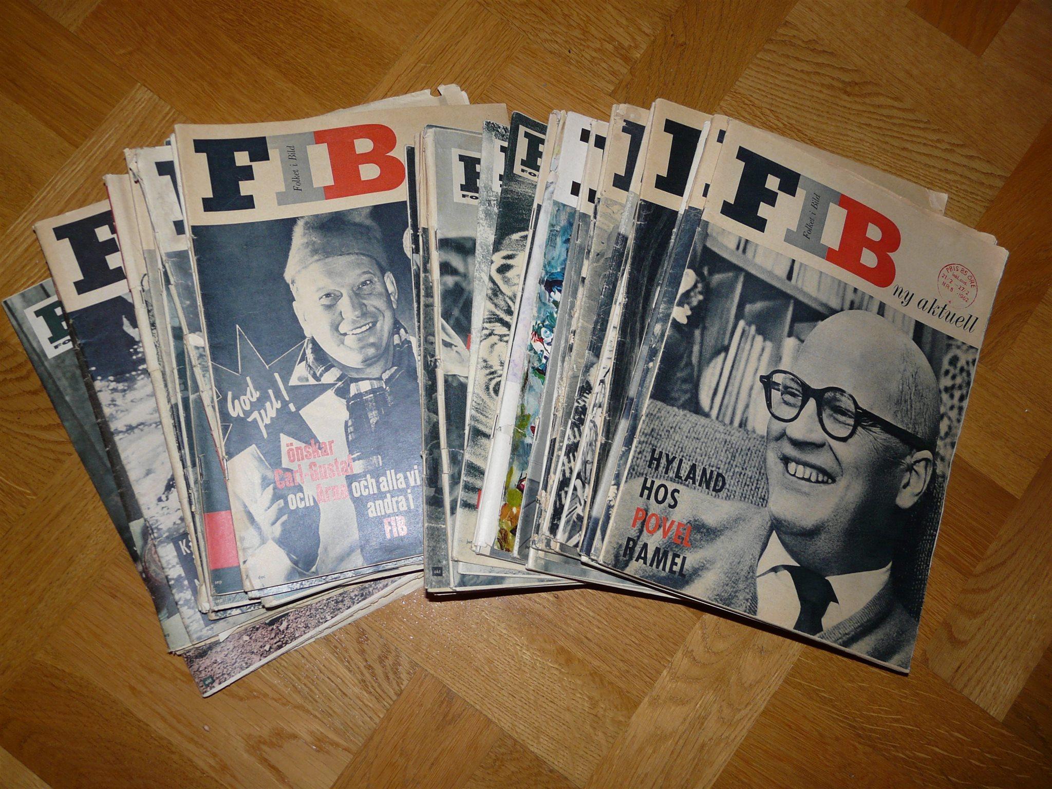 Folket i Bild, 40 40 40 nr från åren 1960-1962 dd7bef