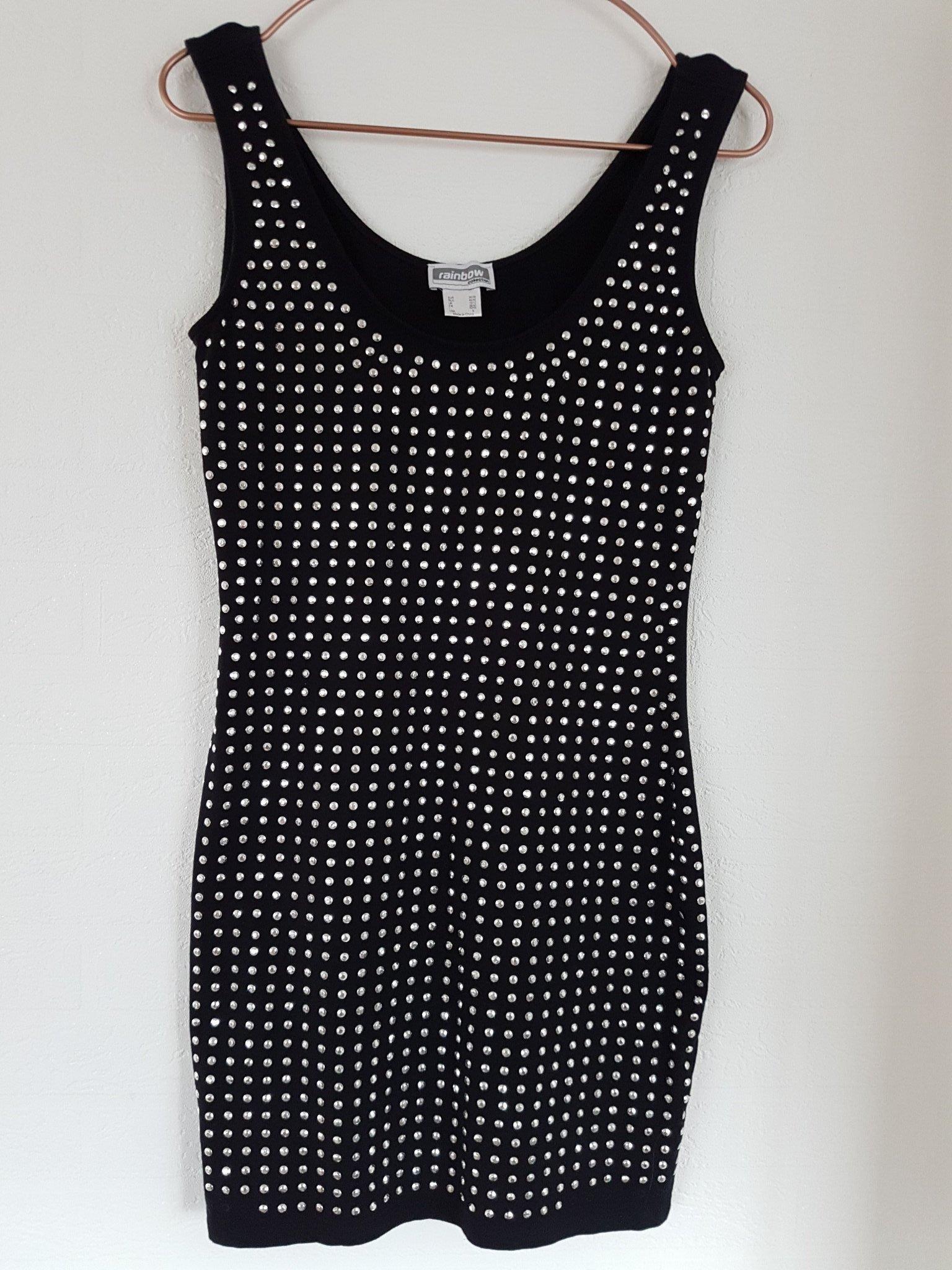 91ee5cd99885 Fräck kort klänning med nitar/paljetter, stl 36.. (350542246) ᐈ Köp ...
