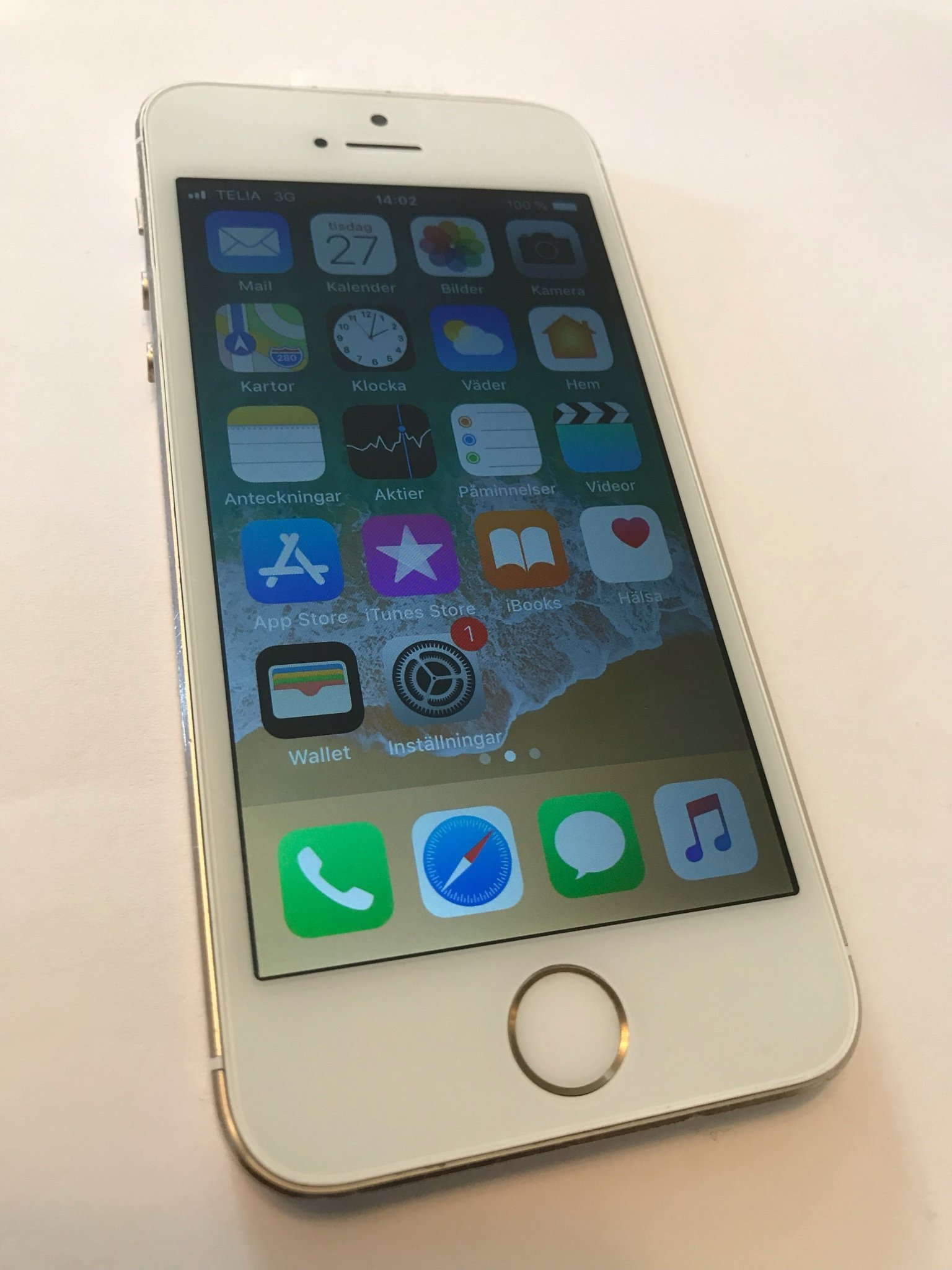 iPhone 5s White/Gold 16gb *Olåst*