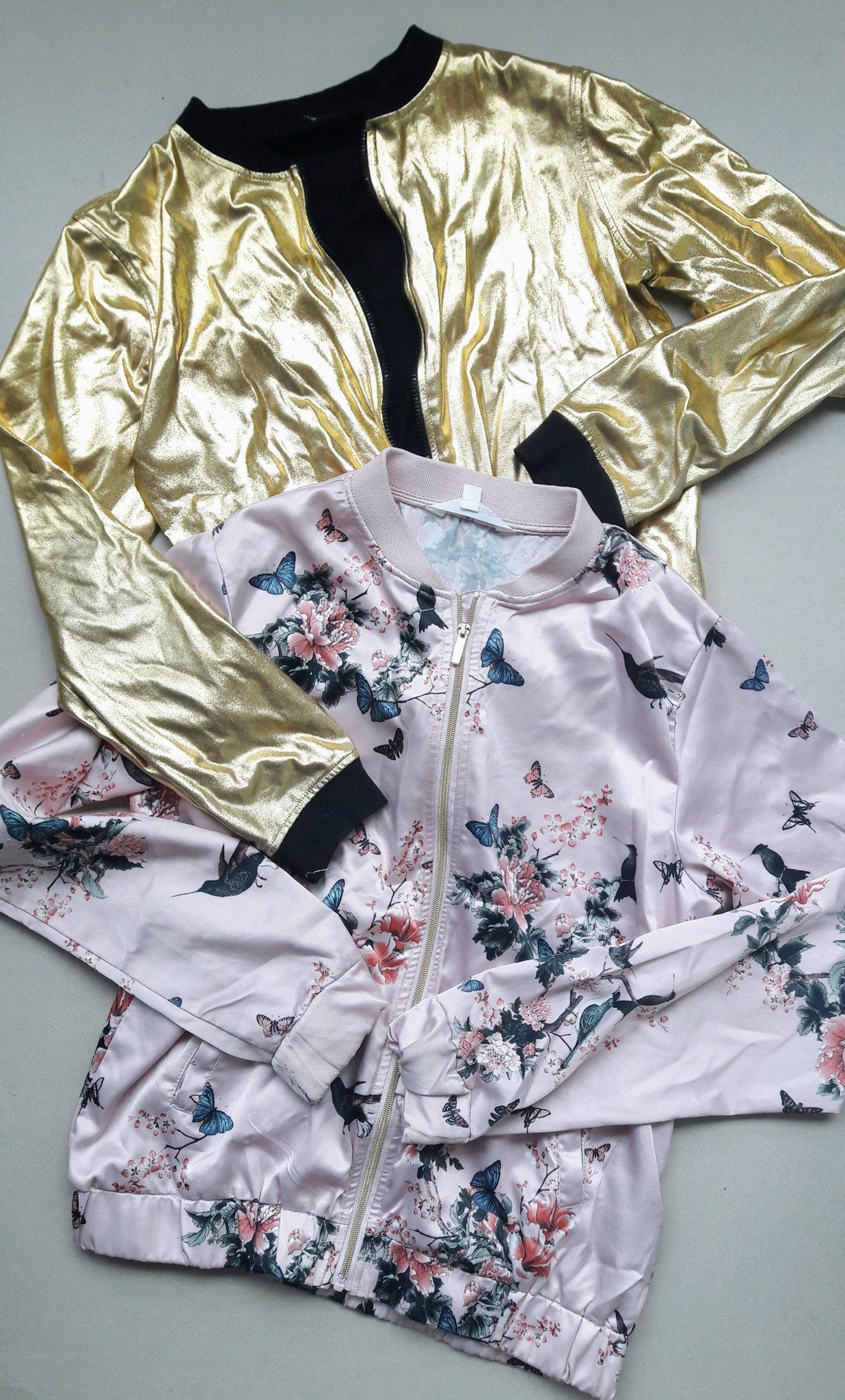 Guld Rosa jacka Coola jackor två silke rockar f.. (418470931