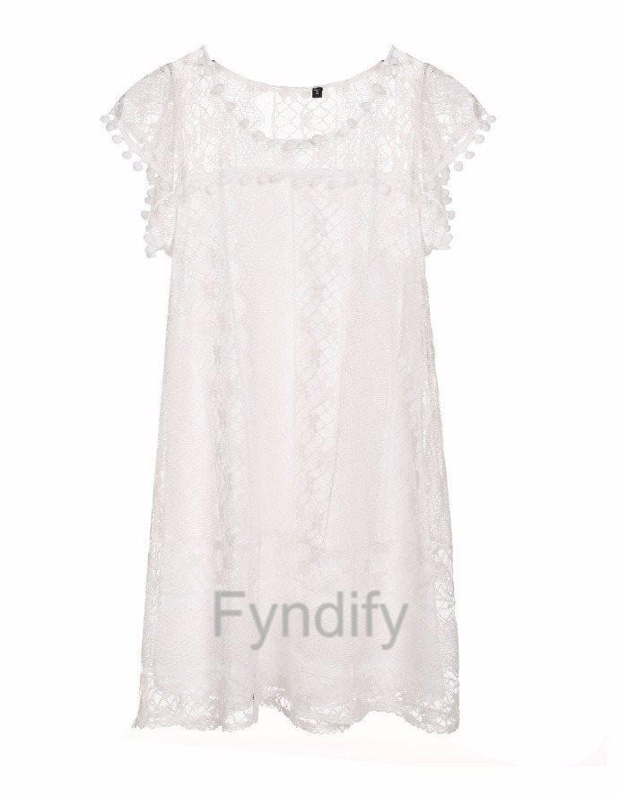 Spetsklänning Spetsklänning Spetsklänning Sundress Vit 4XL 94581e