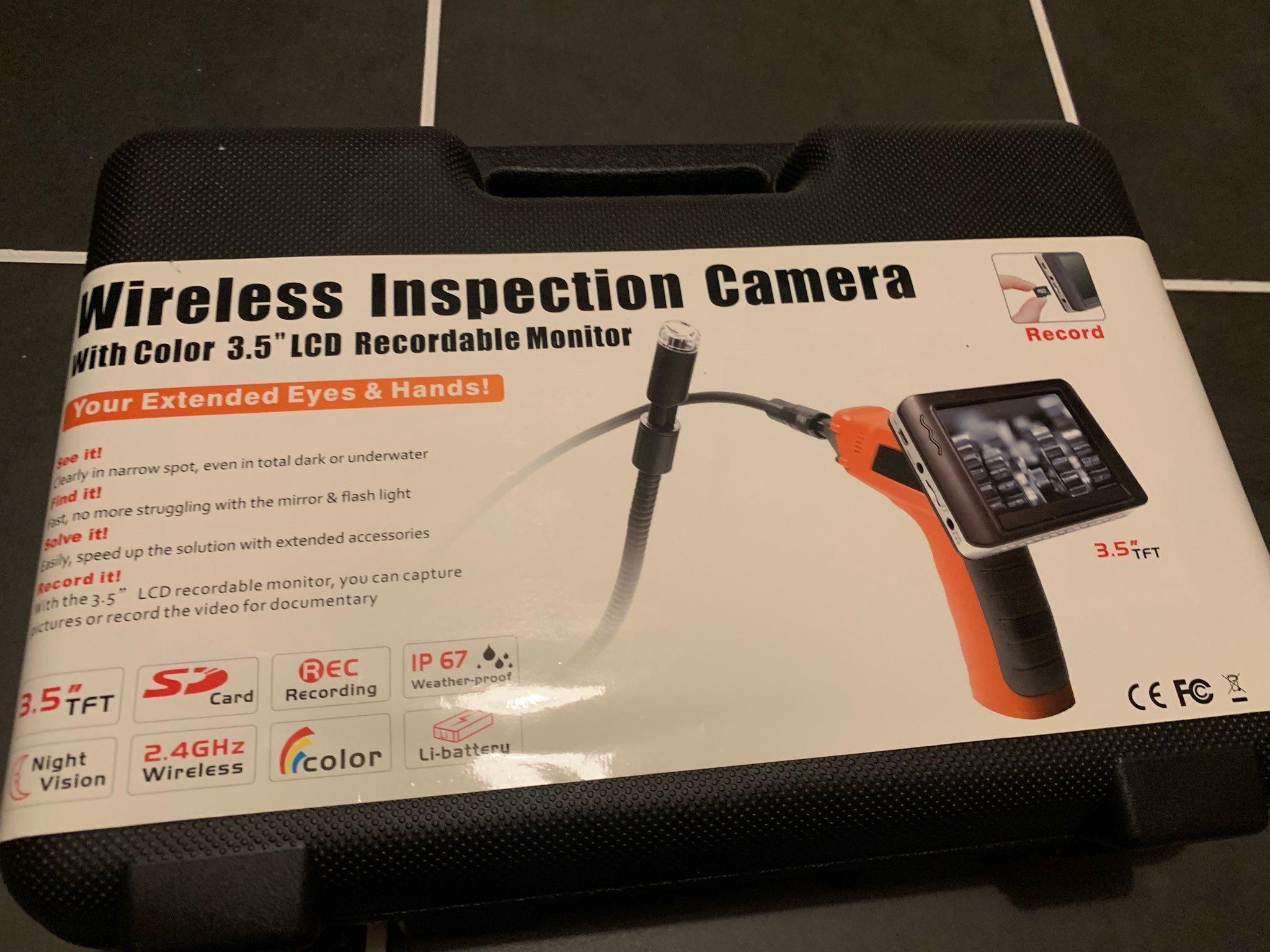Inspektionskamera med LCD display
