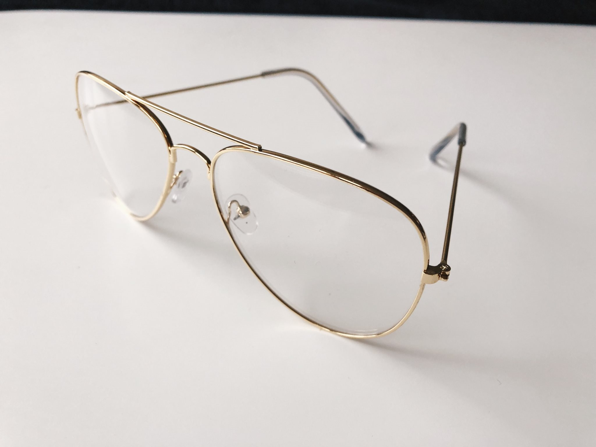Glasögon klart glas utan styrka guld aviator pi.. (330385536) ᐈ Köp ... 58a22bb2cc8e7