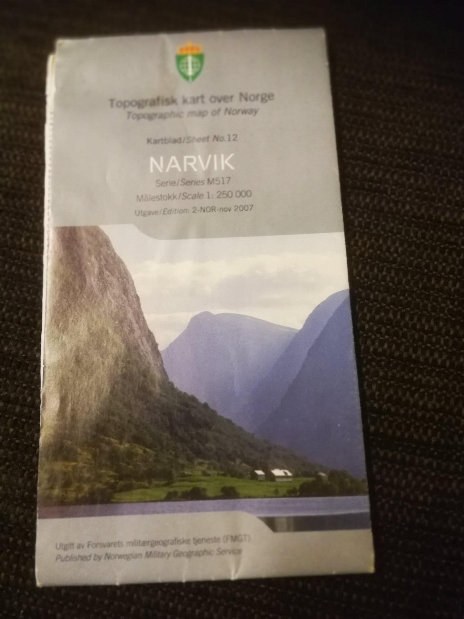 Karta Syd Norge.Karta Topografisk Kart Over Norge M517 Narvik 333703497 ᐈ Kop