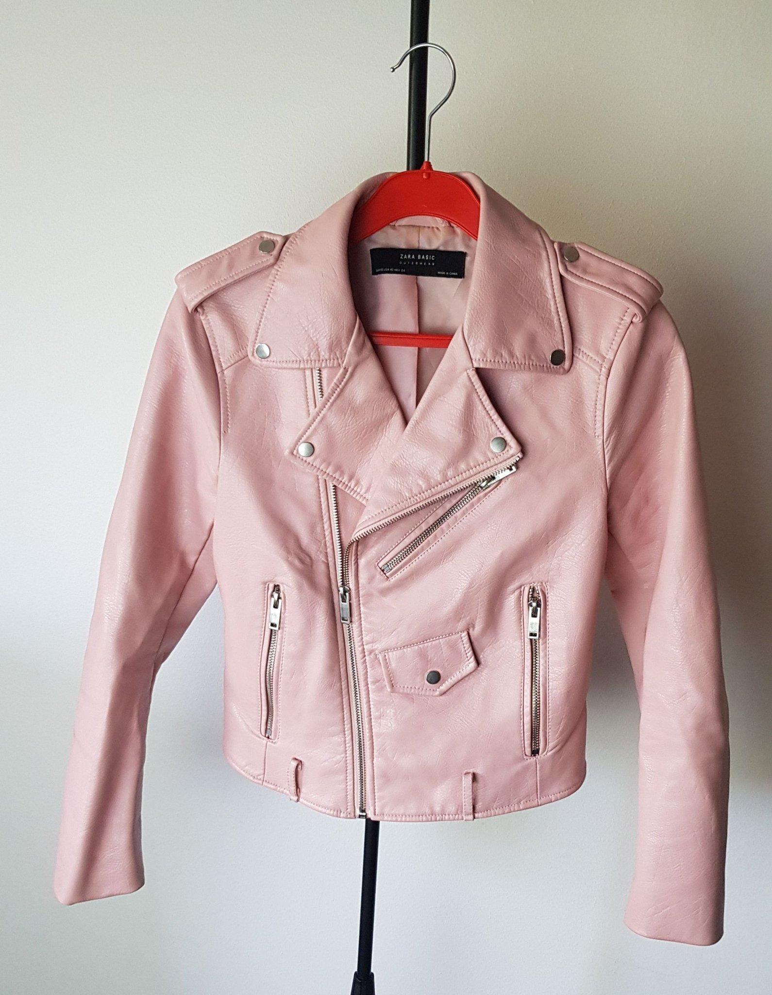 Zara basic outerwear skinnjacka rosa strl xs (401186410) ᐈ