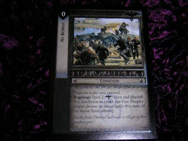 NO RETREAT   CONDITION   (RARE)    4R30    *