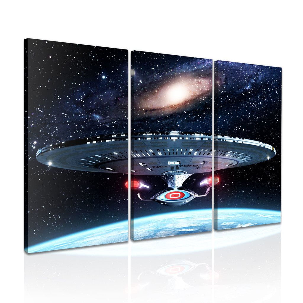 STAR TREK The Starship Enterprise - CANVASTAVLA - 96x61 cm -