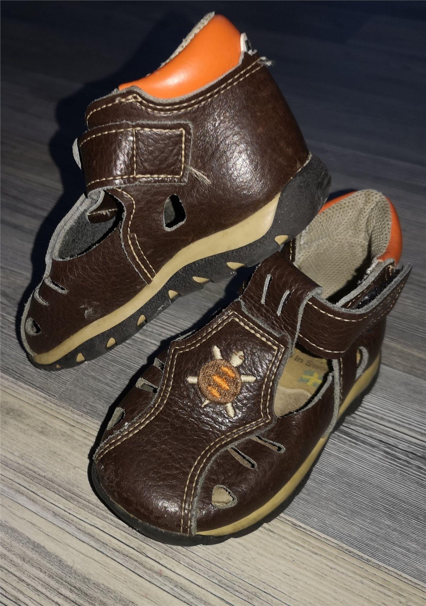 7b814819031 KAVAT Sandaler läder 22 högt skaft brun/orange .. (340088524) ᐈ Köp ...