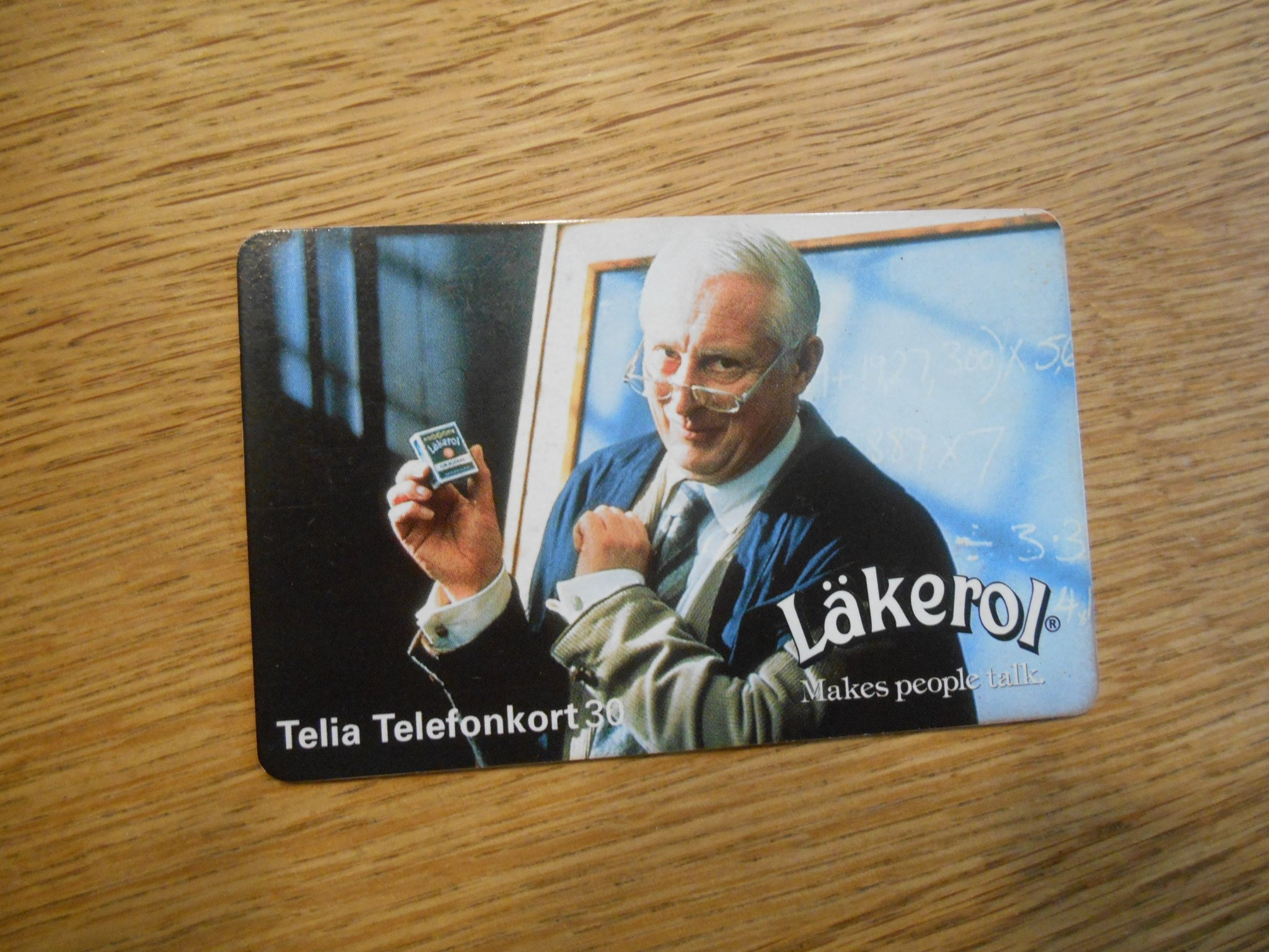 TELIA TELEFONKORT 30 LÄKEROL MAKES PEOPLE TALK
