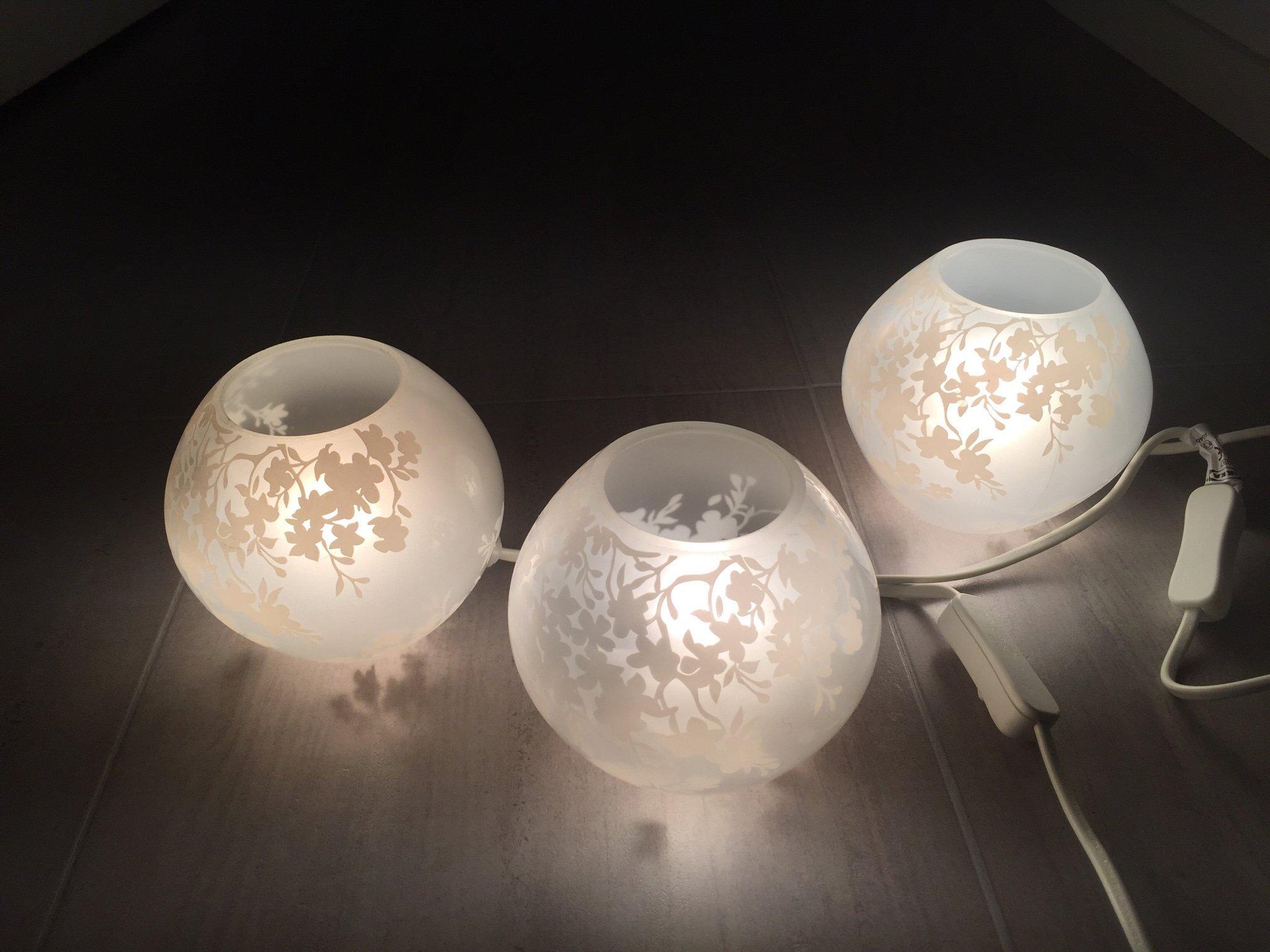 Underbar Ikea Knubbig - Tre bordslampor - tre små vita l.. (366513872) ᐈ NH-96