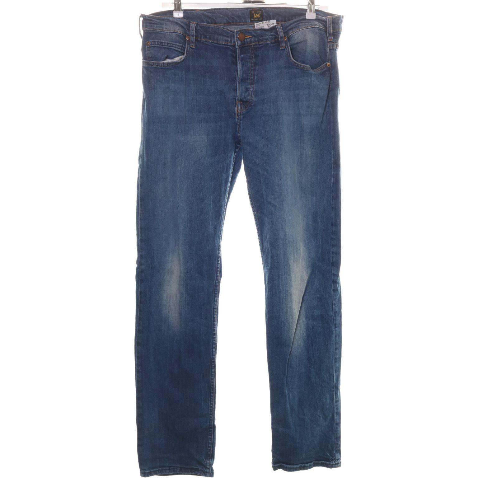 Lee, Jeans, Strl: 38/34, Blå, Bomull