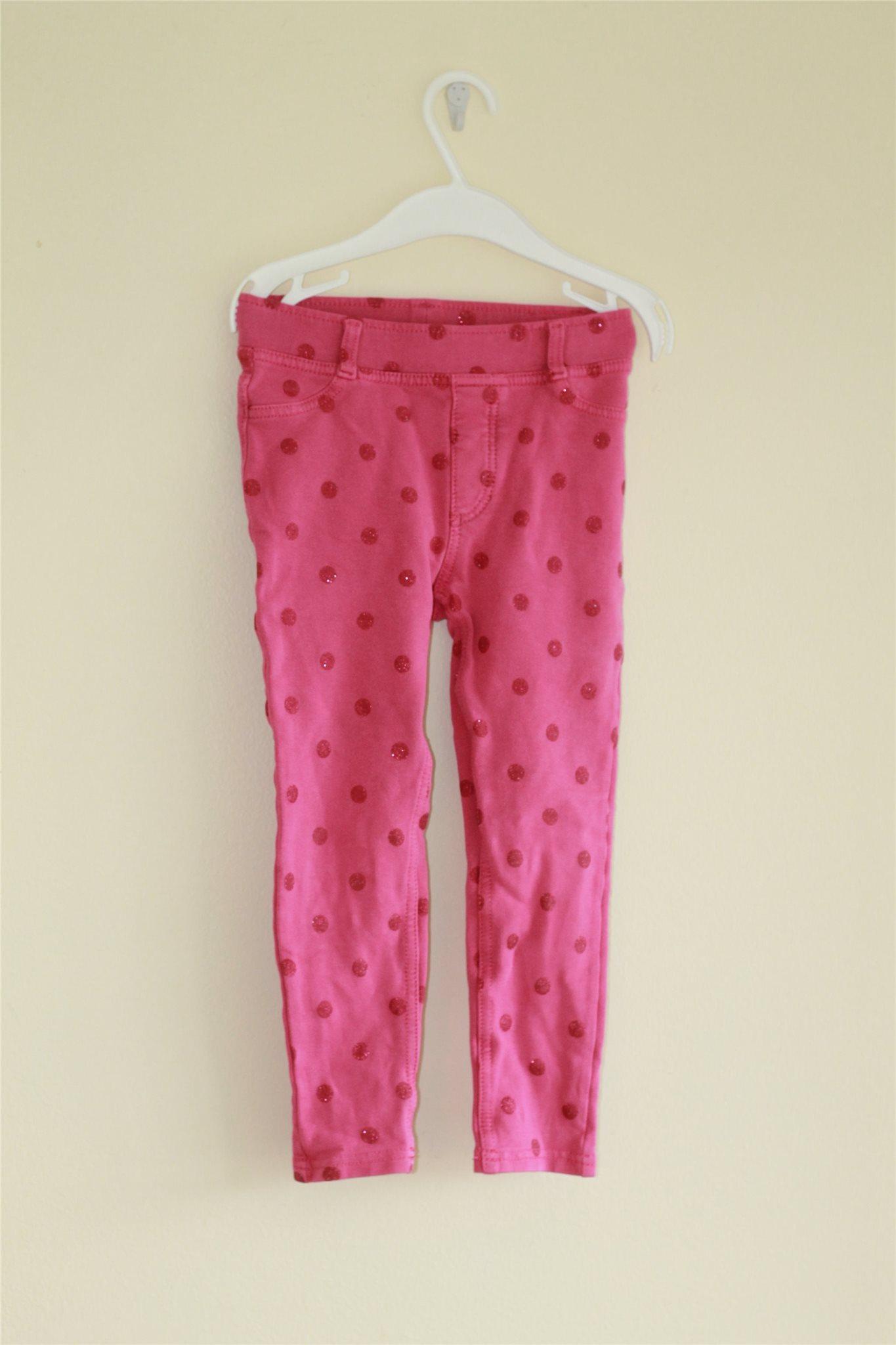 Rosa strechbyxor med mörk rosa prickar - H M - .. (337306696) ᐈ Köp ... 31876d422893b