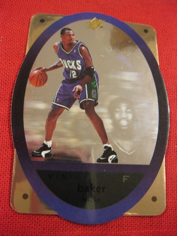 VIN BAKER  - UD SPX 1996 - MILVAUKEE BUCKS - PARALLEL - BASKET