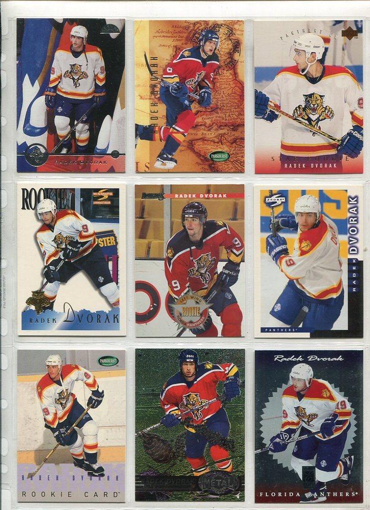 27a9de5f111 9 stycken hockey kort  Radek Dvorak   Flo.. (288978599) ᐈ TPLrec på ...