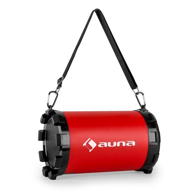 auna Dr. Red Boom 2.1-bluetooth-högtalare USB SD AUX batteridriven 20w max a2e4e73b42dd6