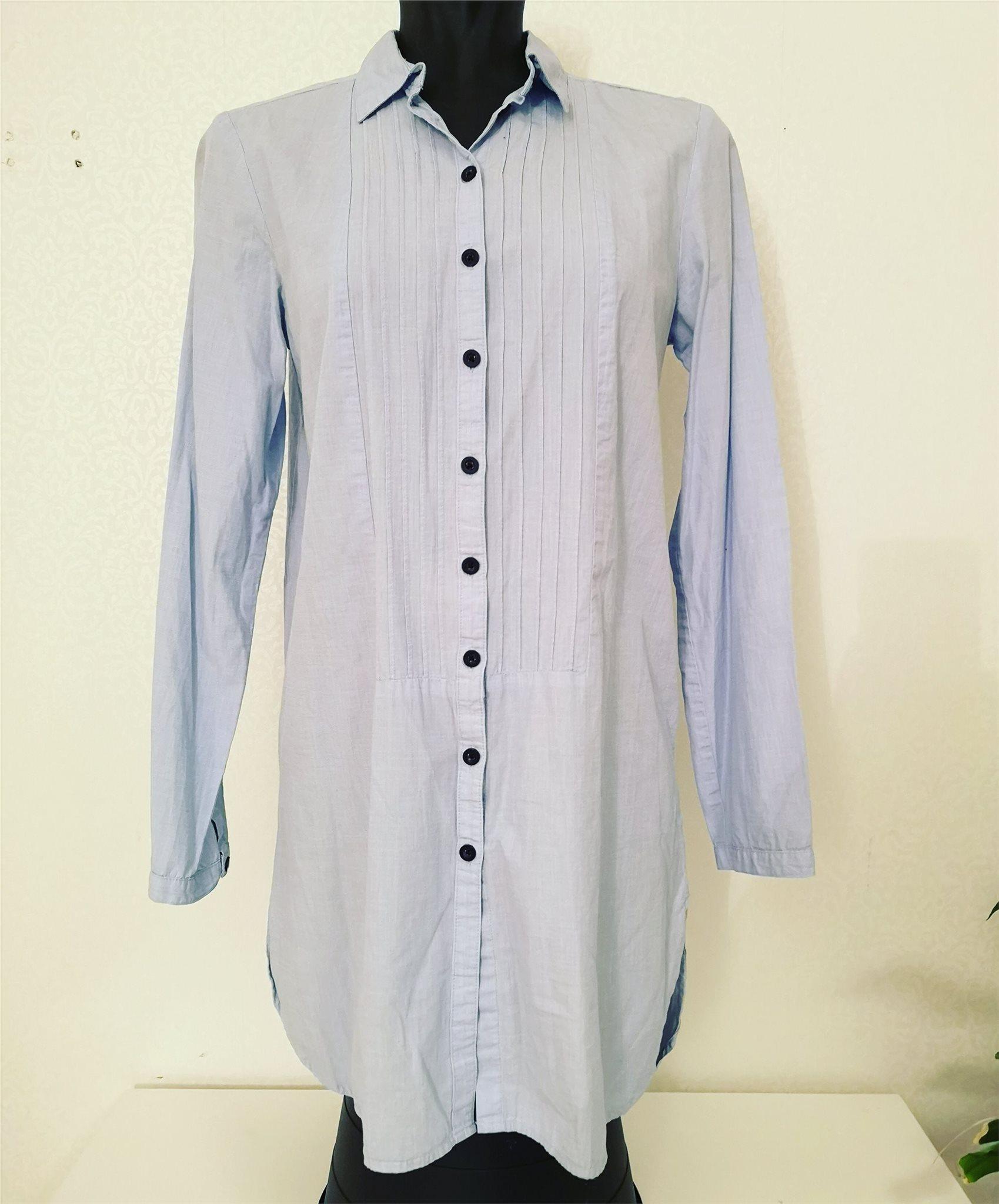 lång skjortklänning hm