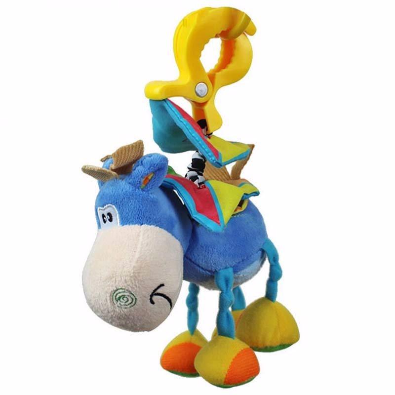 Baby Blå Häst Mjukdjur Leksak Med Clip