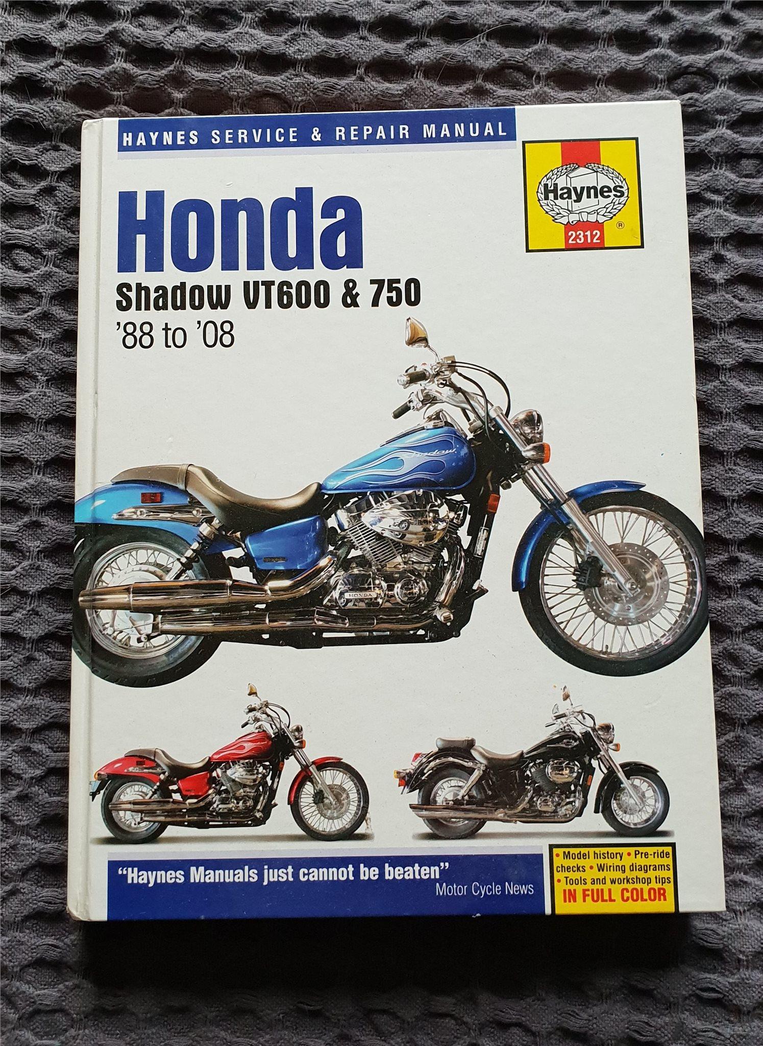 Haynes service & repair manual Honda Shadow