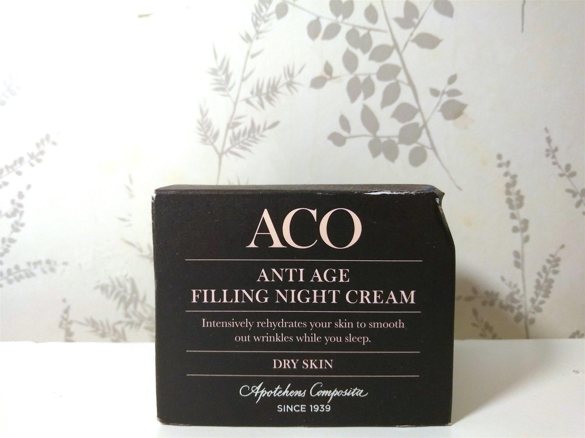 aco filling night cream
